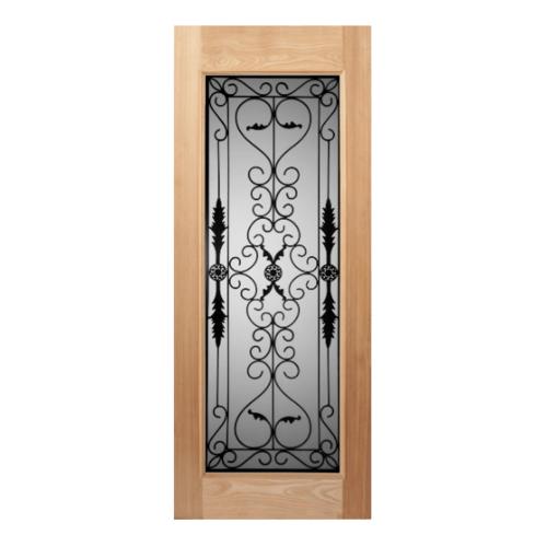 MAZTERDOOR ประตูไม้จาร์ปาการ์กระจก ขนาด 90x200 cm. STMD-001