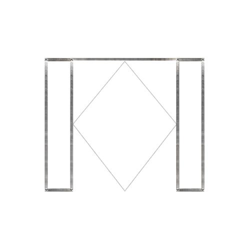 MAZTERDOOR วงกบประตูไม้เนิ้อแข็ง  ขนาด180x200cm. SET 3