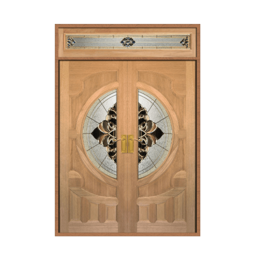 MAZTERDOOR ประตูไม้จาปาร์การ์กระจก SET2 ขนาด 160X240cm.  VANDA-05