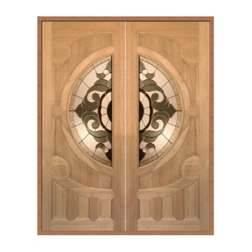 MAZTERDOOR ประตูกระจกไม้สยาแดง SET1  ขนาด160x200cm.   VANDA-01