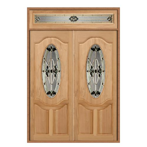 MAZTERDOOR ประตูกระจกไม้นาตาเชีย SET 2  ขนาด 160X240cm. ORCHID-08