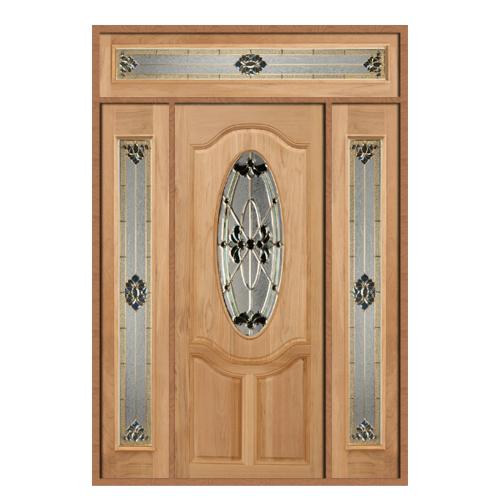 MAZTERDOOR ประตูกระจกไม้จาปาร์การ์ ขนาด 90X200cm. ทำสีโอ๊ค   ORCHID-08