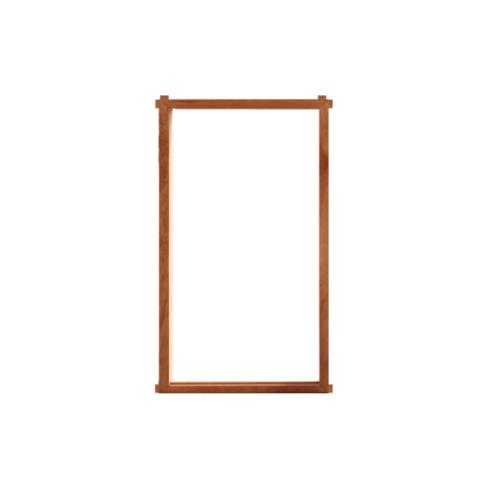 MAZTERDOOR วงกบหน้าต่างไม้เนื้อแข็ง  60x100cm.  1 ช่อง