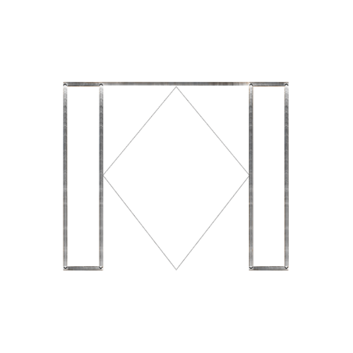 MAZTERDOOR วงกบประตูไม้เนื้อแข็ง  ขนาด240x380cm. SET 3