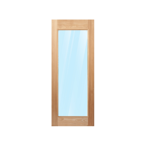 MAZTERDOOR ประตูไม้สยาแดง บานเรียบพร้อมกระจกใส   ขนาด 70x200cm.