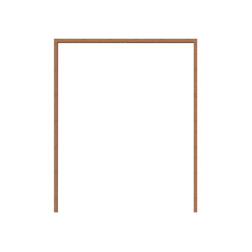 MAZTERDOOR วงกบประตูไม้เนื้อแข็ง ขนาด200x240cm.  SET 1