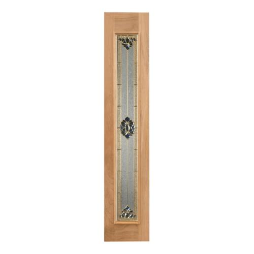 MAZTERDOOR ประตูไม้สยาแดง บานเรียบพร้อมกระจก ขนาด40x180cm.  JASMINE-05
