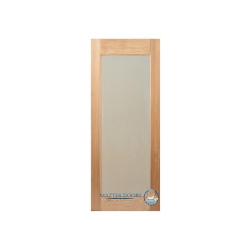 MAZTERDOOR ประตูไม้สยาแดง บานเรียบพร้อมกระจกฝ้าขนาด 70x200cm.   MD10/02