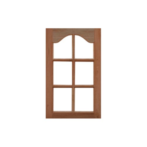 MAZTERDOOR หน้าต่างไม้สยาแดง ปีกนกกระจก 6 ช่อง ขนาด 60X100cm. WD-04