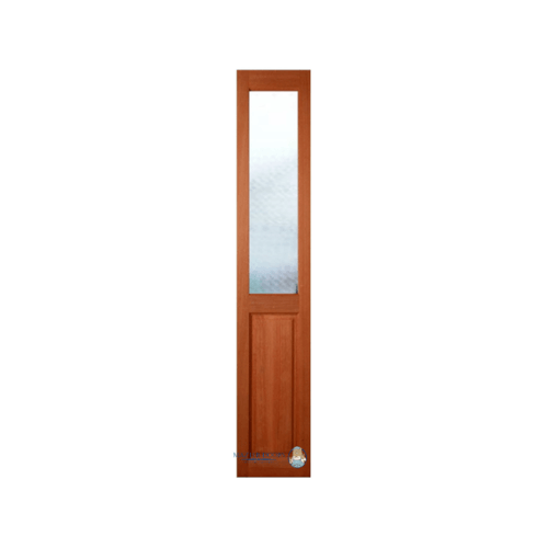MAZTERDOOR ประตูไม้สยาแดง ลูกฟักพร้อมกระจก SL ลายพิกุล  ขนาด 40x200cm.