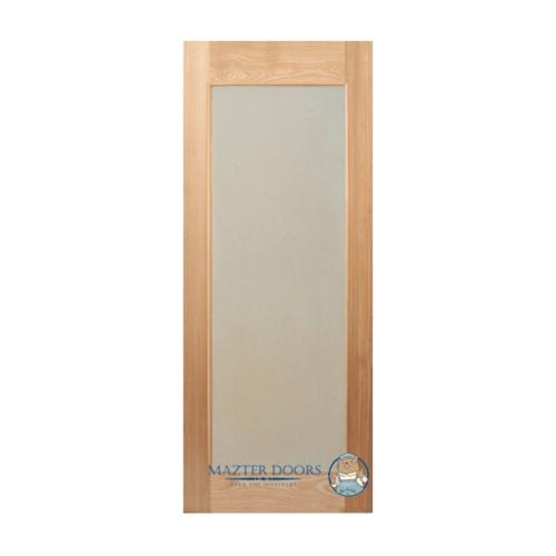 MAZTERDOOR ประตูไม้สยาแดง บานเรียบพร้อมกระจกฝ้า ขนาด 70x200cm.   MD 10/2