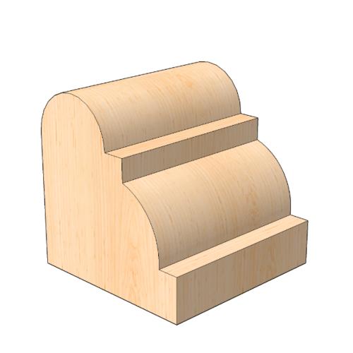 MAZTERDOOR คิ้วตกแต่ง-ไม้สัก (ลูกฟูก) 5/8นิ้วx5/8นิ้วx7 ฟุต M.0513