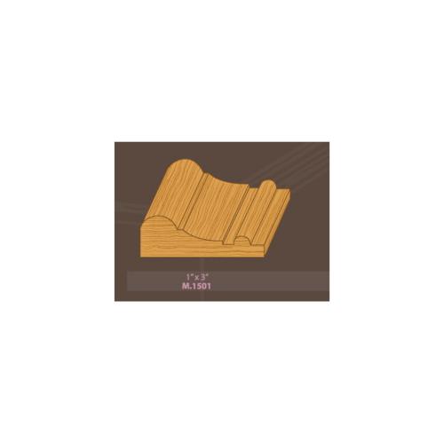 MAZTERDOOR คิ้วตกแต่ง-ไม้สัก M.1501(ตุ่ม) 1x3x7 ฟุต คิ้วตกแต่ง-ไม้สัก M.1501(ตุ่ม) 1x3x7 ฟุต