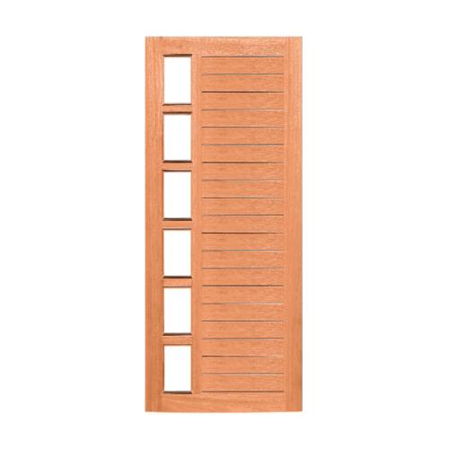 MAZTERDOOR ประตูกระจกไม้สยาแดง ทำร่องพร้อมกระจกฝ้า 100x237ซม.  MD60/2