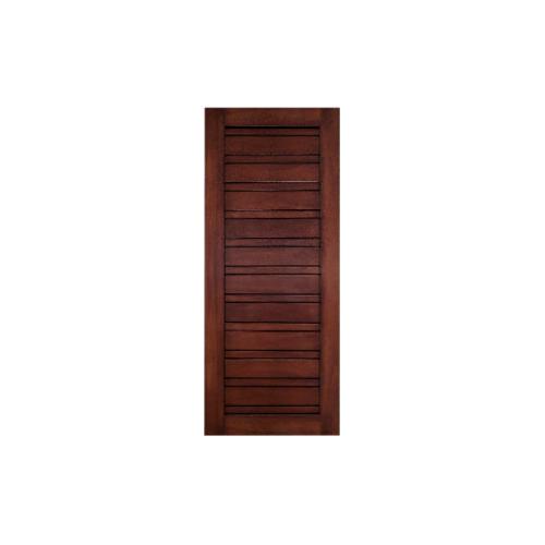 MAZTERDOOR ประตูไม้สยาแดง บานทึบทำร่อง ขนาด 90x200ซม. ทำสี   NM-03
