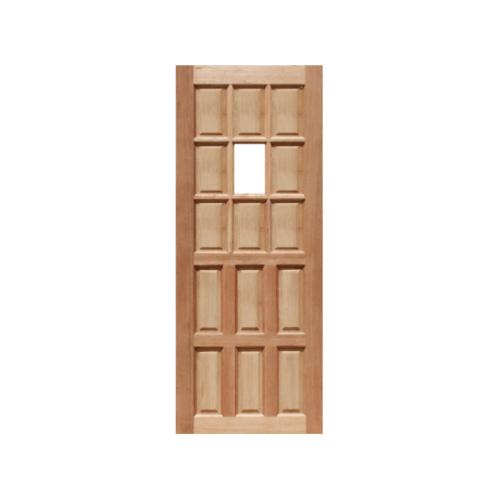 MAZTERDOOR ประตูไม้สยาแดง ลูกฟักพร้อมกระจก ขนาด 100x200ซม.   MD-03