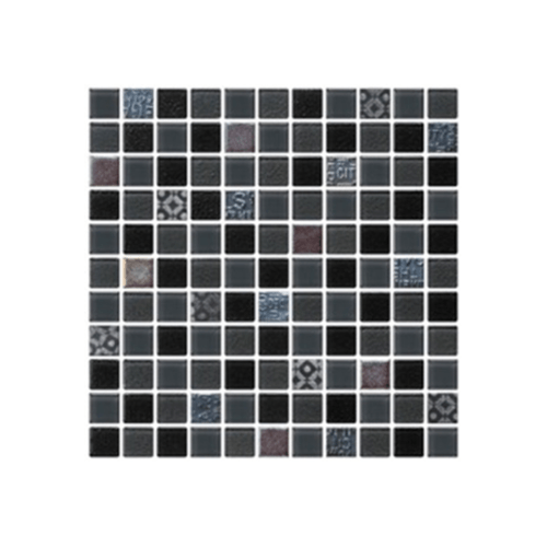GLASCERA โมเสคแก้ว  เนเชอร์รอล#1 MS-NAT-0001 สีดำ