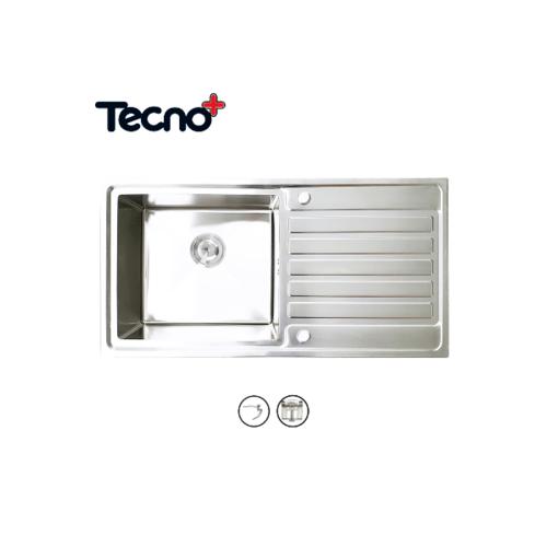TECNO+ อ่างล้างจาน 1 หลุม 1 ที่พัก SINK TNP HYBRID 100