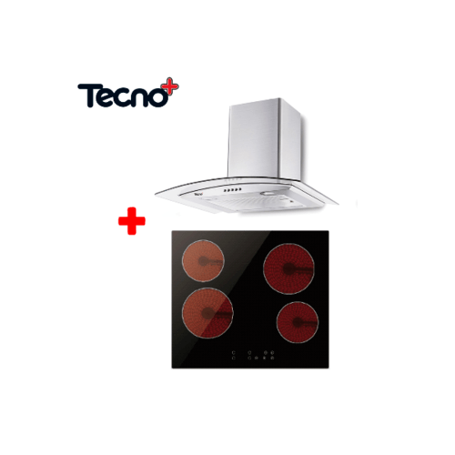 TECNO+ ชุดเซ็ทเครื่องดูดควัน +เตาไฟฟ้า TNS HD 3460K-AC+ TNP VT 4060 MN