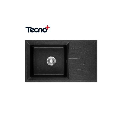 TECNO+ อ่างล้างจานแกรนิต 1 หลุมไม่มีที่พัก  TNP GIN 1B1D  สีดำ