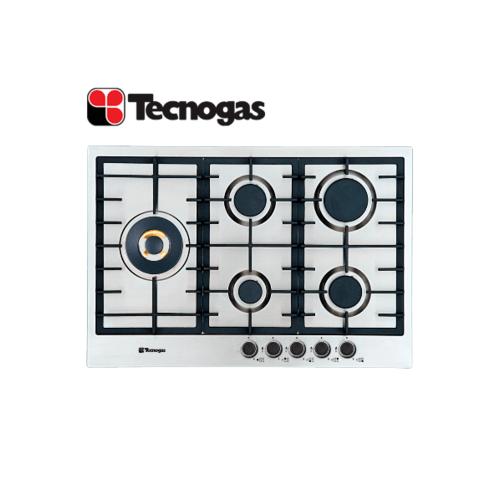 TECNOGAS เตาแก๊สแบบฝังหน้าสเตนเลส  5 หัวเตา  PN75GVF5LBX