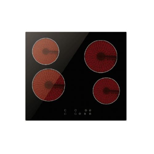 TECNOGAS เตาเซรามิคไฟฟ้า 4 หัวเตา แบบฝัง HOB TNP VT 4060 MN ดำ