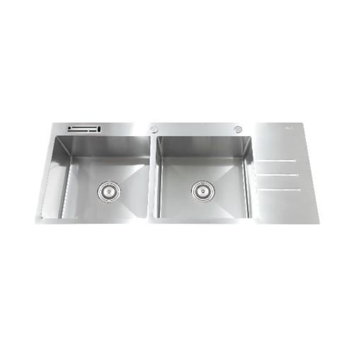 TECNOGAS อ่างล้างจาน 2 หลุมมีที่พัก TNP 2110 U