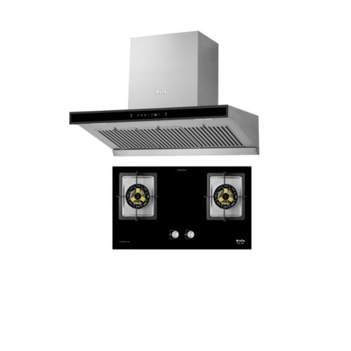 AXIA ชุด SET เครื่องดูดควันแบบกระโจม รุ่น C-SENSE 90 + เตาแก๊สฝัง รุ่น 3D78-2GS  AXIA ชุด SET เครื่องดูดควันแบบกระโจม รุ่น C-SENSE 90 + เตาแก๊สฝัง รุ่น 3D78-2GS  AXIA สีดำ