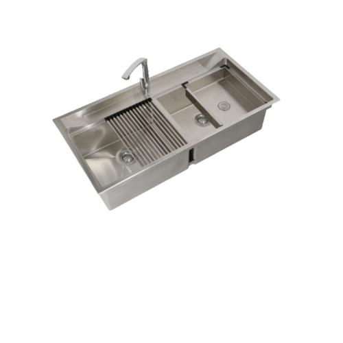 AXIA อ่างล้างจาน 2 หลุม รุ่น ATHENS 10050 AXIA อ่างล้างจาน 2 หลุม รุ่น ATHENS 10050 AXIA สีโครเมี่ยม