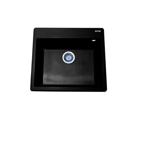 AXIA  อ่างล้างจานแกรนิต  1 หลุมไม่มีที่พัก  ICONIC 5751  สีดำ