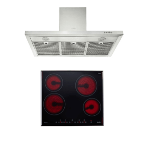 AXIA ชุดเซ็ทเตาไฟฟ้า + เครื่องดูดควัน A60005GL+AX890XSF90 สีดำ