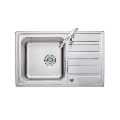 AXIA อ่างล้างจาน 1 หลุมมีที่พัก MARINA 80 AXIA MARINA 80 สีโครเมี่ยม