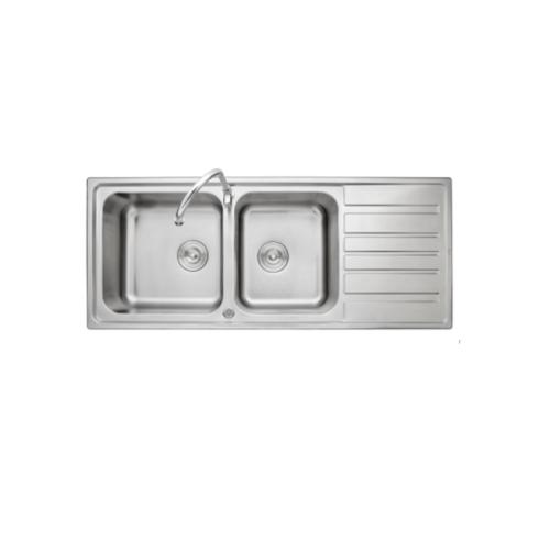 AXIA อ่างล้างจาน 2หลุมมีที่พัก MARINA 120 AXIA MARINA 120 สีโครเมี่ยม