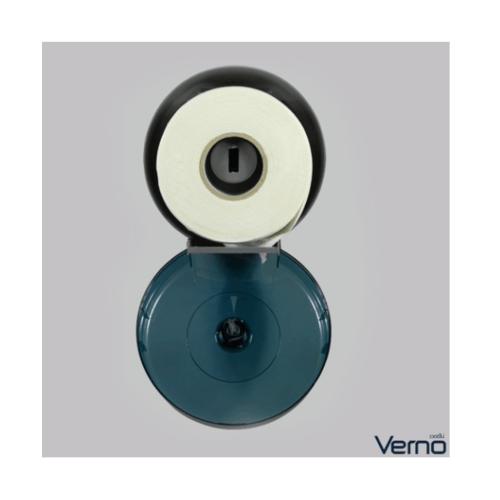 VERNO กล่องกระดาษทิชชู่ Jumbo Roll  PQS-OB8001B สีฟ้า