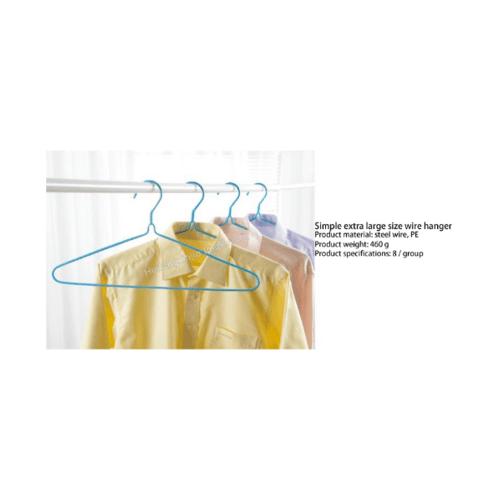 SAKU ไม้แขวนเสื้อลวดหุ้มพลาสติก แพ็ค 10 ชิ้น JMZM001-PK สีชมพู