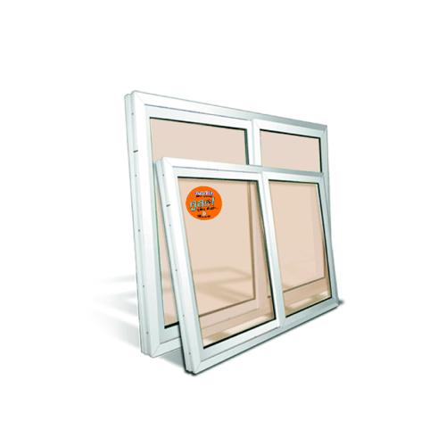 Wellingtan หน้าต่างไวนิล บานเลื่อน SS 100cm.x120cm. สีขาว กระจกสีชา พร้อมมุ้ง WELLINGTAN SW1012  สีขาว