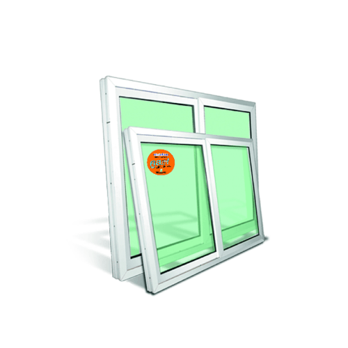 Wellingtan หน้าต่างไวนิล บานเลื่อน  ขนาด 100cm.x120cm. พร้อมมุ้ง SS SWG1012 สีขาว