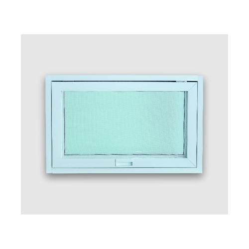 Wellingtan หน้าต่างอลูมิเนียม บานกระทุ้ง ขนาด 80cm.x50cm. พร้อมมุ้ง  WGA0805  สีขาว