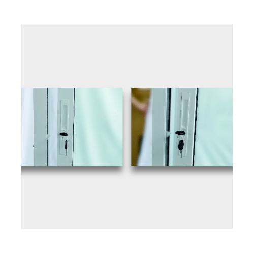 Wellingtan ประตูอลูมิเนียม บานเลื่อน SS ขนาด 200cm.x200cm.  พร้อมมุ้ง  WGD2020-2P สีขาว