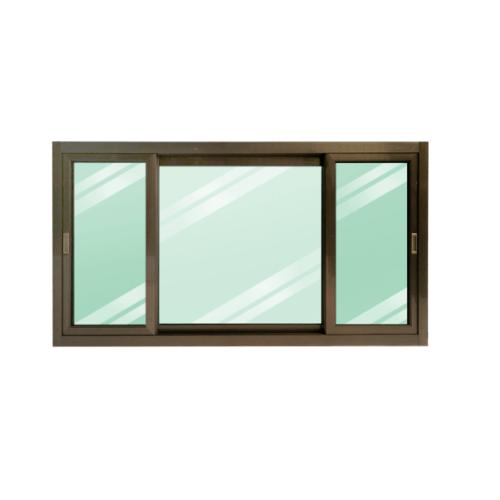 Wellingtan หน้าต่างอลูมิเนียมบานเลื่อน ขนาด 180cm.x100cm. พร้อมมุ้ง  SFS CGW1810-3P  สีโครเมี่ยม
