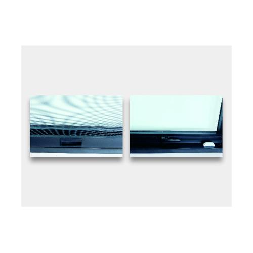 Wellingtan หน้าต่างอลูมิเนียม บานกระทุ้งพร้อมมุ้ง 800x500mm(กxส) BGA0805 สีดำ