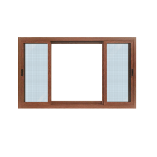 Wellingtan หน้าต่างอลูมิเนียม บานเลื่อน 180cm.x100cm. สีสัก พร้อมมุ้งลวดนิรภัย  SFS TK1811SS-3P