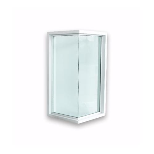 Wellingtan หน้าต่างช่องแสงเข้ามุมอลูมิเนียม ขนาด 50x50x100cm. WGW050510 สีขาว