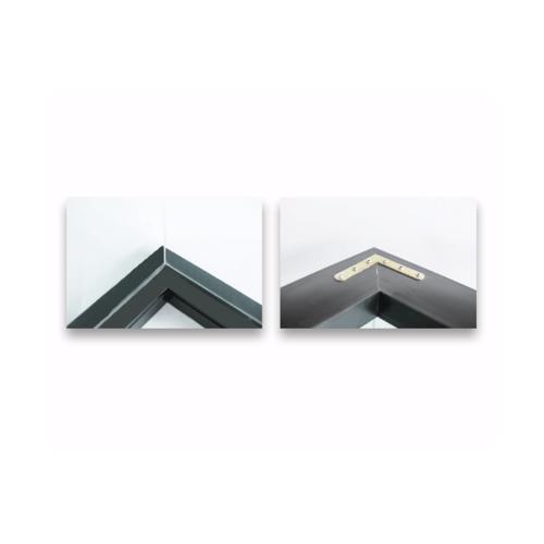 Wellingtan หน้าต่างช่องแสงเข้ามุมอลูมิเนียม ขนาด 50x50x100cm. BGW050510 สีดำ