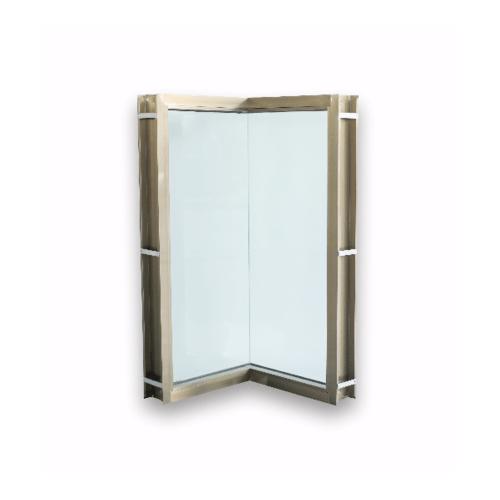 Wellingtan หน้าต่างช่องแสงเข้ามุมอลูมิเนียม ขนาด 50x50x100cm. CGW050510 สีแชมเปญ