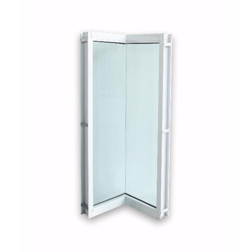 Wellingtan ประตูช่องแสงเข้ามุมอลูมิเนียม ขนาด 50x50x200cm.  WGD050520 สีขาว