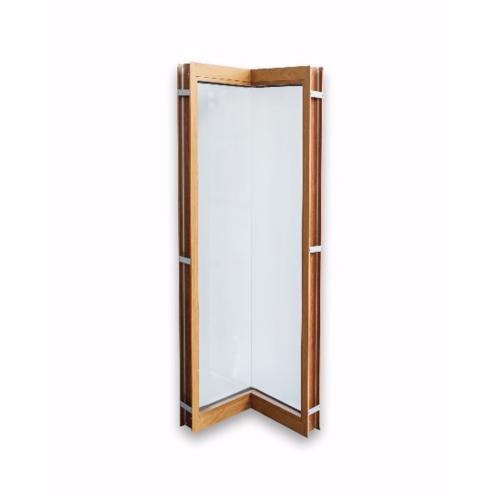 Wellingtan ประตูช่องแสงเข้ามุมอลูมิเนียม ขนาด 50x50x200cm. สีไม้สัก  TKCD050520