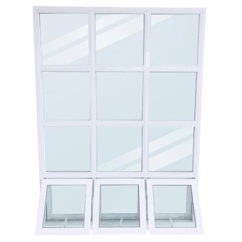 Wellingtan หน้าต่างโถงบันไดอลูมิเนียม ขนาด  149x200cm.  WFAW149200 สีขาว