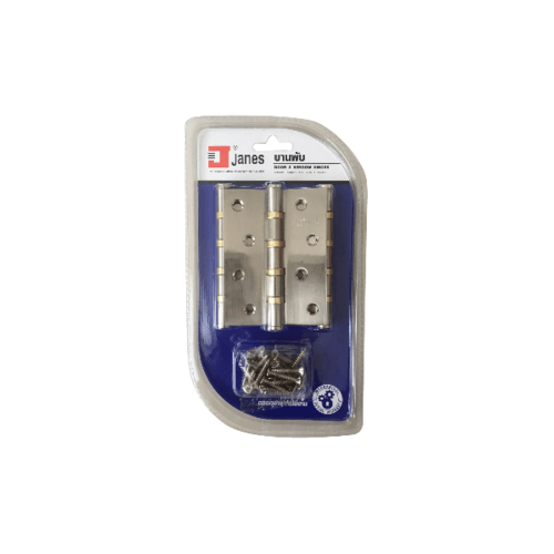 JANES บานพับ) แกนเล็ก หัวตัด แพ็ค 3  4x3x2-4BB SN  สีโครเมี่ยม