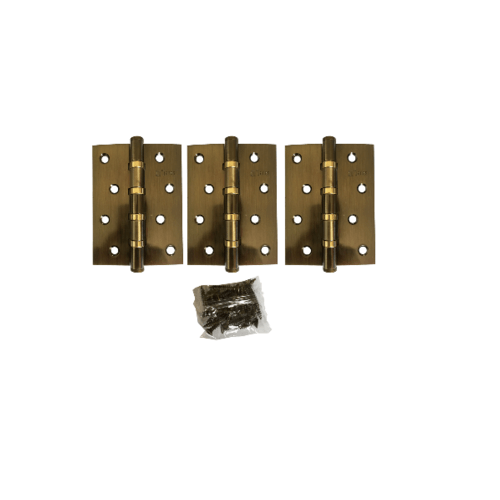 JANES บานพับ 4x3x2-4BB AB FHP PACK3  สีทอง